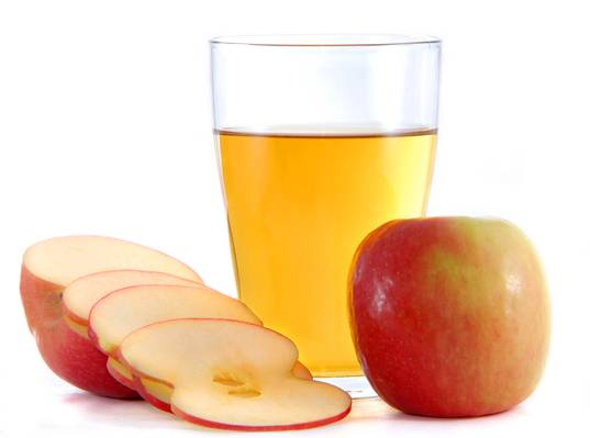 what is the color of apple juice
