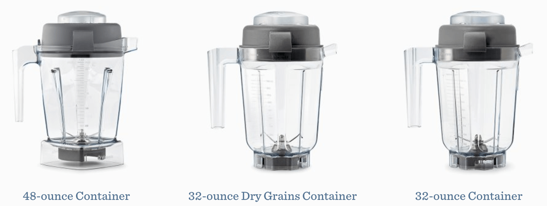 Vitamix S50 vs S55 vs S30 Containers